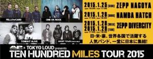 "AP Japan x Tokyo Loud presents""The Hundred Miles Tour2015"